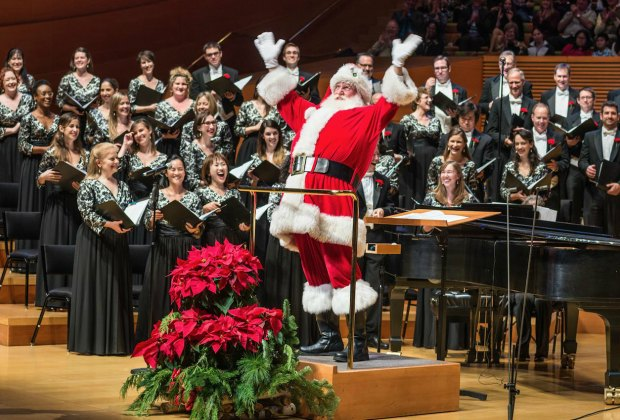 Santa helps out at a Festival of Carols. Photo by Jamie Pham