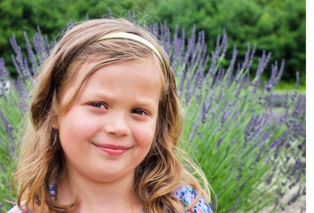 Lavender is a beautiful backdrop for photos. Photo by Ally Noel