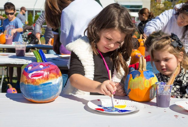 There's painting at Pumpkin Palooza at The Lawn on D. Photo by Bianca Mauro