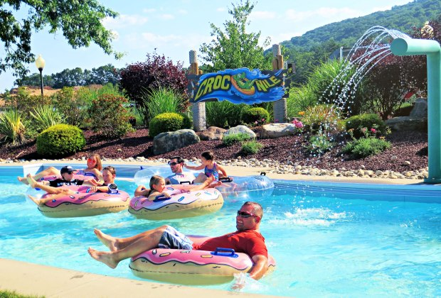The Lazy River is a relaxing ride at Lake Compounce. Photo by Clementina Verge