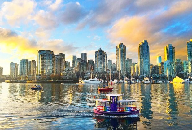 Take a ride aboard the Aquabus and watch Vancouver's skyline unfold. Photo courtesy of Aquabus
