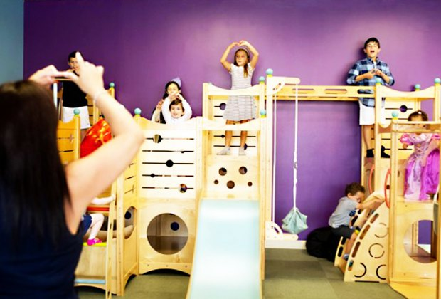 Sip a coffee while the kids have fun at Moozie's Play Cafe.