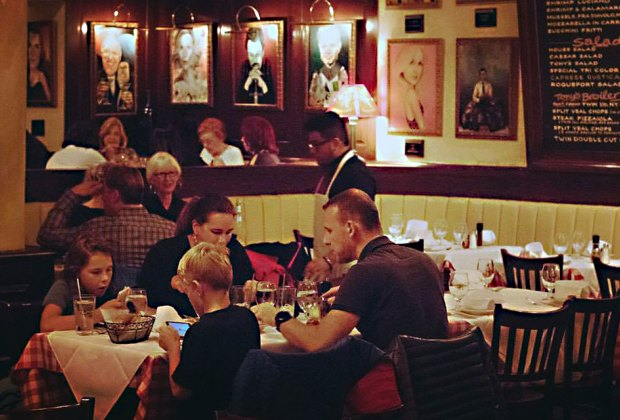 You can't go wrong with a trip to the super family-friendly Tony Di Napoli's.