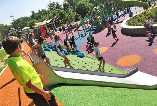 Verona Park's new look is colorful and fun.