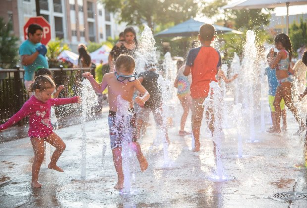 Fun in the fountain. Photo courtesy of Village of Leesburg