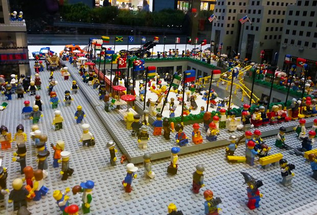 Peek at Rockefeller Center in mini form at The Lego Store