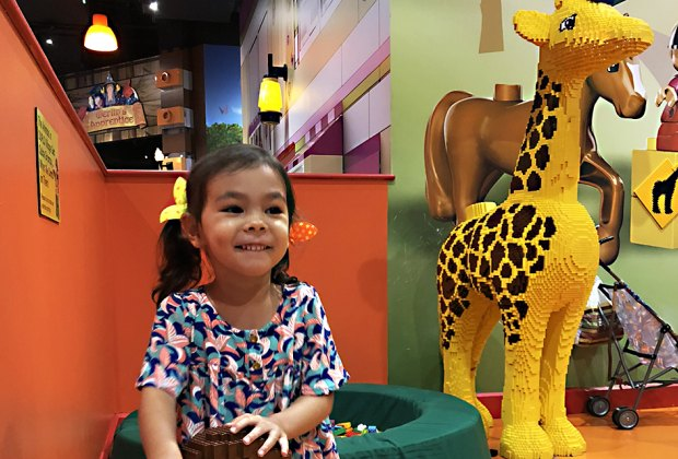 Little girl at Legoland Discovery Center in Yonkers