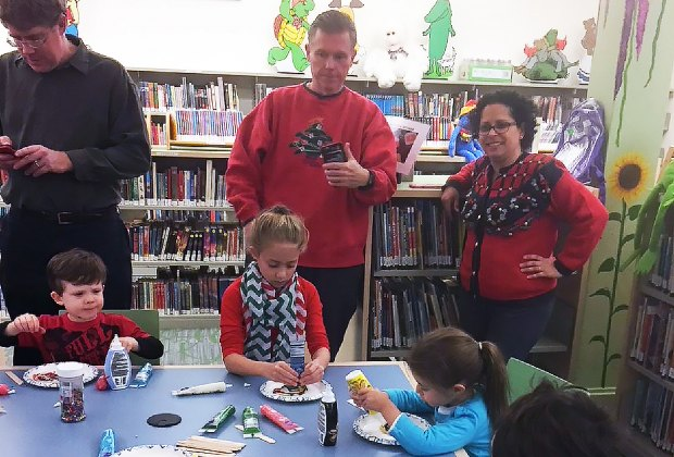 December 11 is Ugly Sweater Day at the Lewisboro Library! Photo courtesy of the library