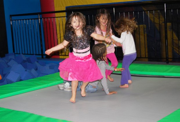 Little ones take center stage during Toddler Time  at Bounce! Trampoline Sports.
