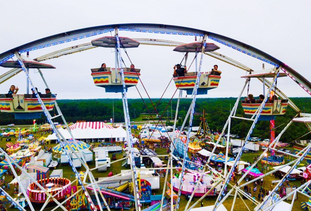 Enjoy thrill rides and more at the  Mattituck Strawberry Festival, June 14-17. Photo by David Benthal for the Mattituck Lions Club