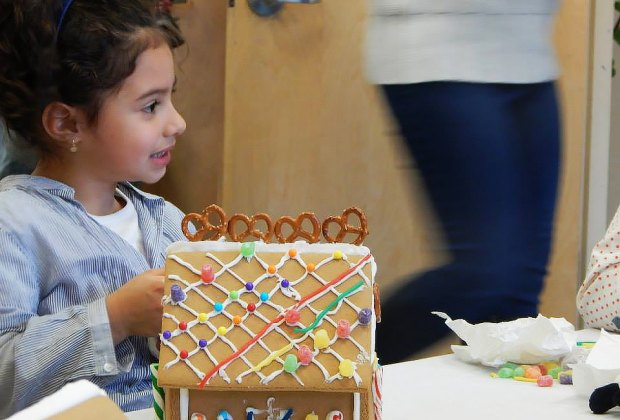 Decorate a gingerbread house of your own at the Children's Museum of the East End.  Photo courtesy of the museum