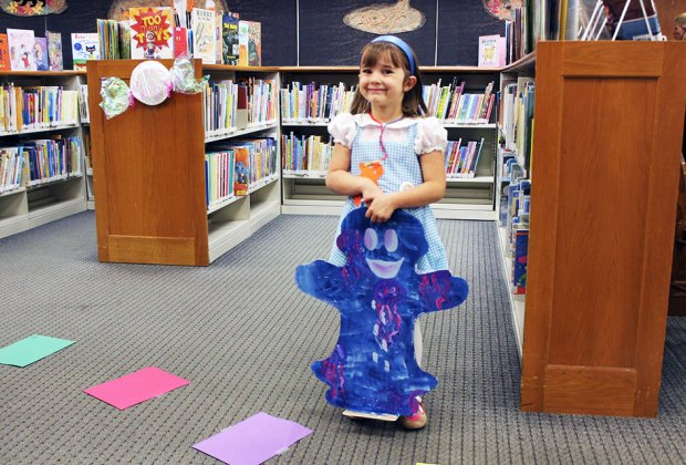 Thrill to the life-size Candyland game at the Emma S. Clark Memorial Library. Photo courtesy of the library