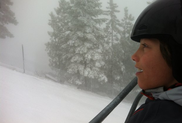 All in one weekend, a day of fog and snow...