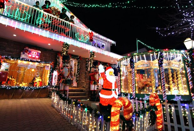 The DiMartino house in Staten Island, called Christmas Lights 4 Life, raises funds to fight children's cancers.