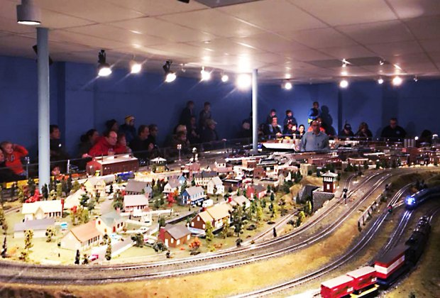 See one of Long Island's largest operating model train layouts in action in Levittown. Photo courtesy of the Nassau Lionel Operating Engineers