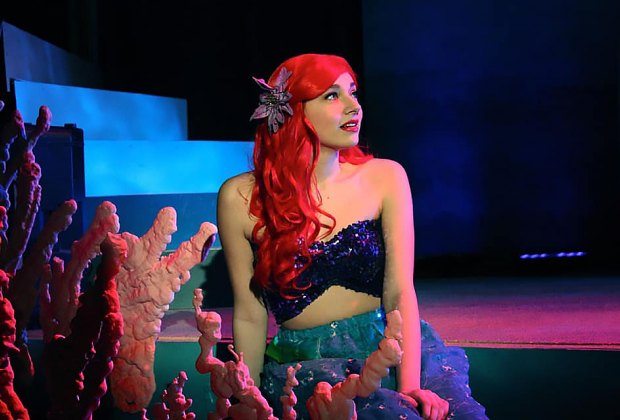Ariel yearns to explore beyond the sea in the Little Mermaid Jr. Photo courtesy of the Smithtown Center for the Performing Arts