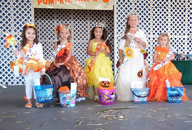 The South Jersey Pumpkin Show Festival includes a Little Miss and Little Mister Pumpkin contest. Photo courtesy of the festival