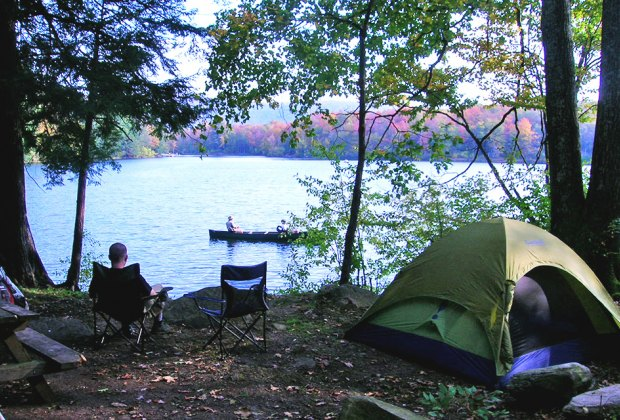 Camping with a view at Little Pond Campground. Photo courtesy of the campsite
