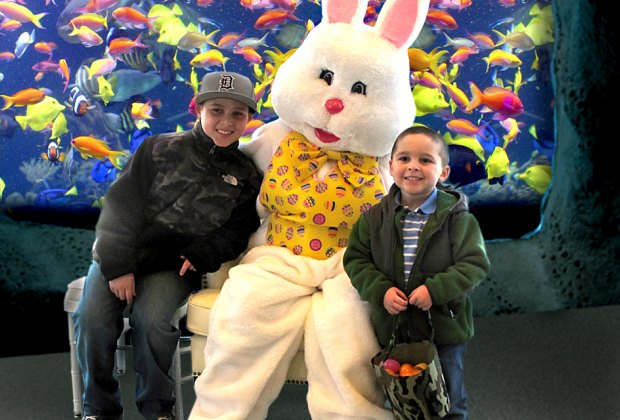 Dine along the Peconic River waterfront with the Easter Bunny as part of the Long Island Aquarium's celebration. Photo courtesy of the aquarium
