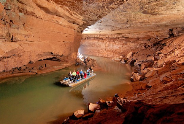 Take a tour of the Lost River Caverns.