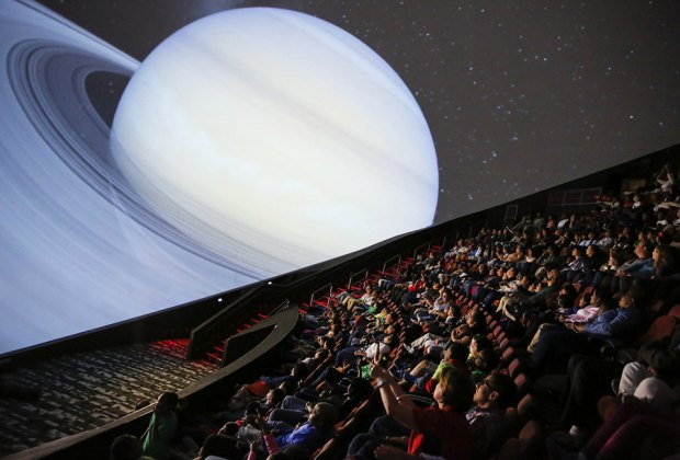 The Jennifer Chalsty Planetarium at Liberty Science Center. Photo courtesy of LSC