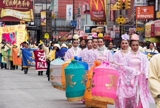 Celebrate Lunar New Year at Chinatown's lively and colorful parade. Photo by Julienne Schaer for NYCGo