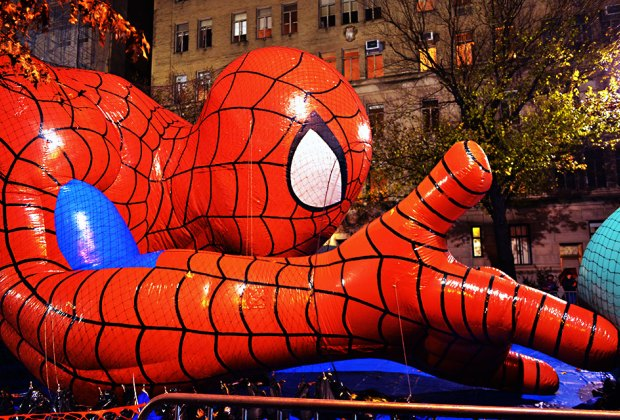 Spiderman gets pumped up for the big parade. Photo by Gigi_nyc via FLickr