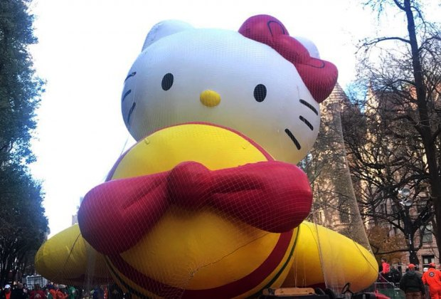 Watch the Thanksgiving Parade balloons being inflated. Photo courtesy of Macy's