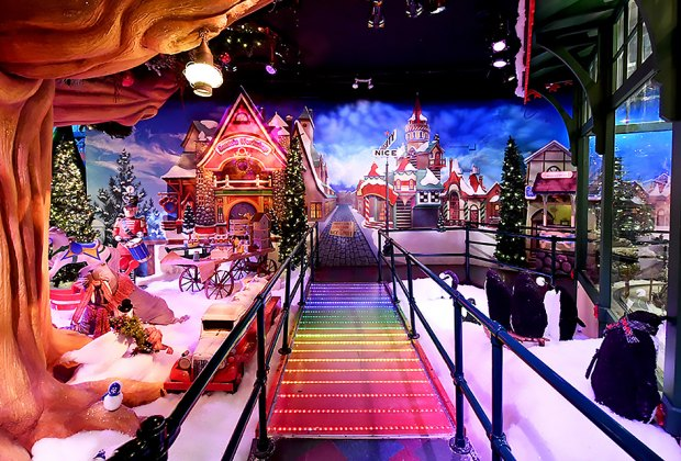 trek across the magical rainbow bridge in santaland - Is Macys Open On Christmas