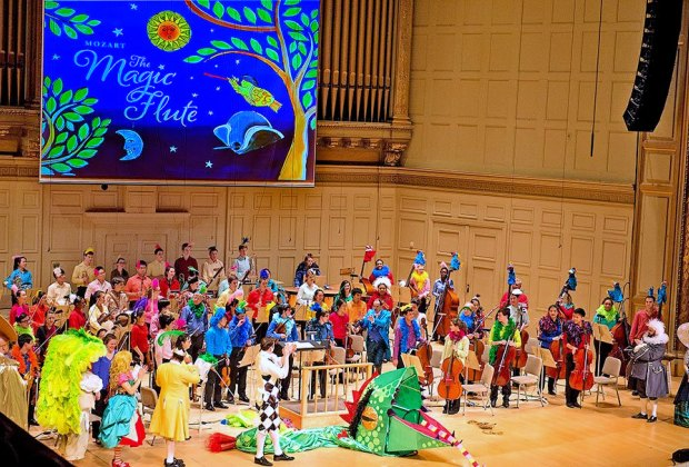 The Boston Symphony Youth Orchestra performs The Magic Flute. Photo by Stu Rosner
