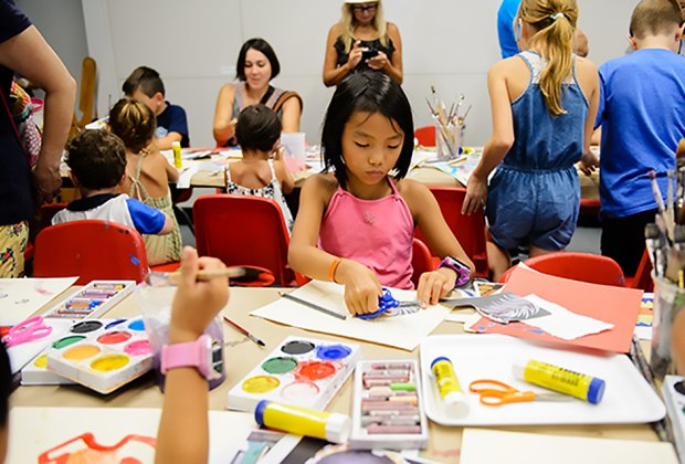Drop by MAM's Helen & Bill Geyer Art Studio to create some artwork of your own. Photo courtesy of MAM