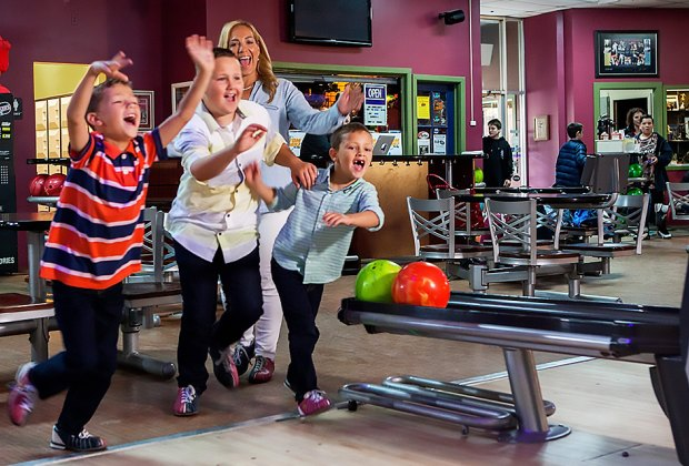 Maple Lanes offers free lessons, youth clinics, and, of course, cosmic bowling.