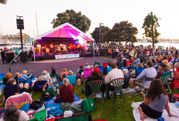 Marina del Rey Summer Concerts at Burton Chace Park. Photo courtesy of Marina del Rey Convention and Visitors Bureau