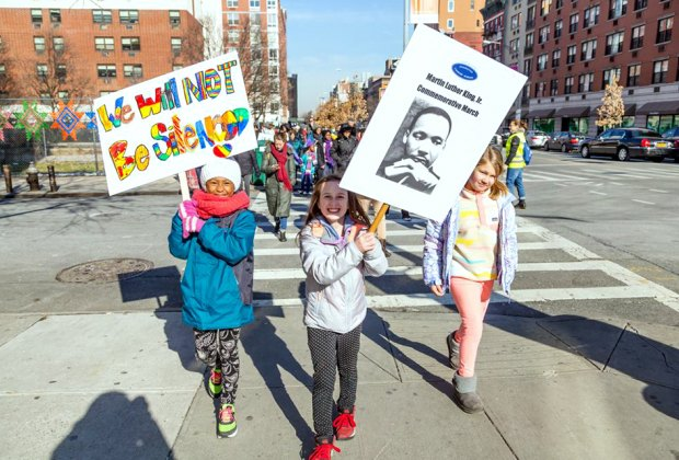 Join the Manhattan Country School for its Martin Luther King Jr., Commemorative March. Photo courtesy of the school