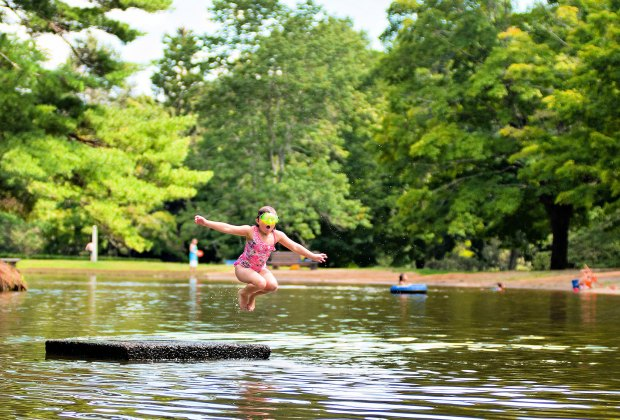 Mashamoquet Brook State Park is perfect for swimming or hiking.