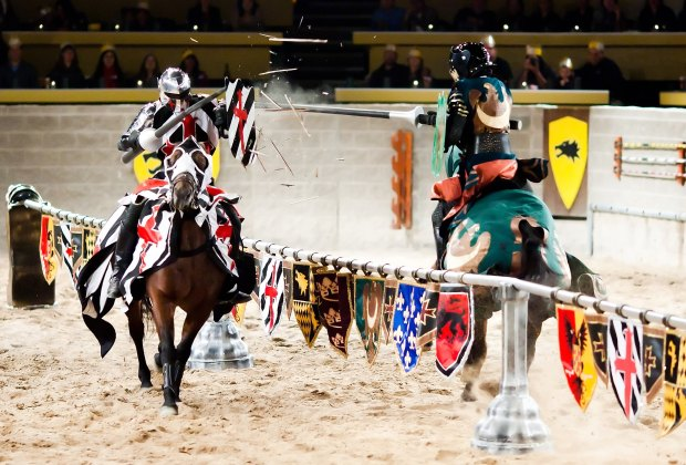 Cheer for your knight during the jousting matches. Photo courtesy of Medieval Times