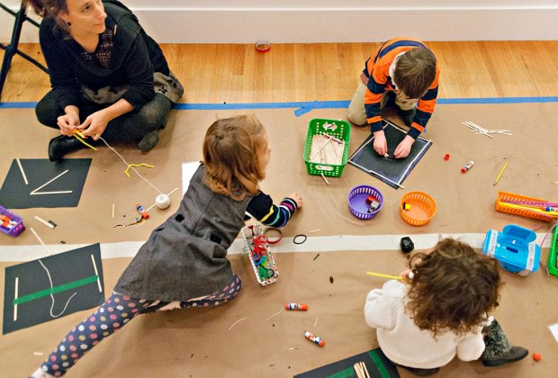 The MFA hosts family-oriented playdates throughout school vacation week. Photo courtesy of the Museum of Fine Arts, Boston