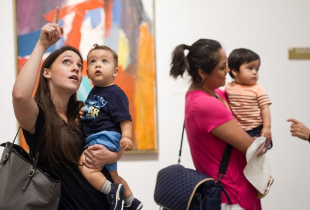 Enjoy a simple Sunday afternoon with the family during MFAH's Sunday Family Zone./Photo courtesy of Trish Badger, Museum of Fine Arts, Houston.