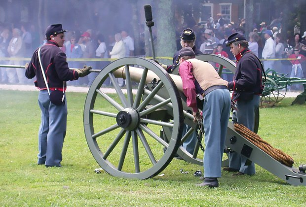 See weapon demonstrations and more at Historic Cold Spring Village's Military Timeline Weekend. Photo courtesy of Historic Cold Spring Village