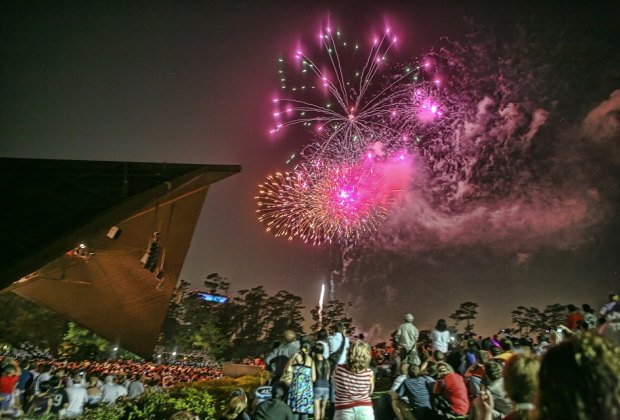 Enjoying live music and fireworks at Miller Outdoor Theatre/Photo courtesy of Leroy Gibbins.