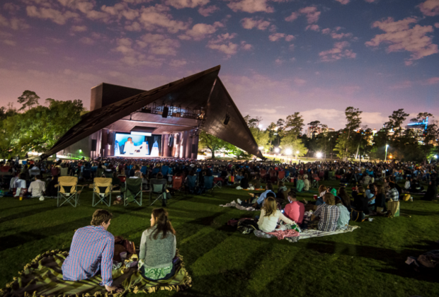 Kick back and relax on the lawn at Miller Outdoor Theatre for an outdoor evening movie screening./Photo courtesy of Miller Outdoor Theatre.