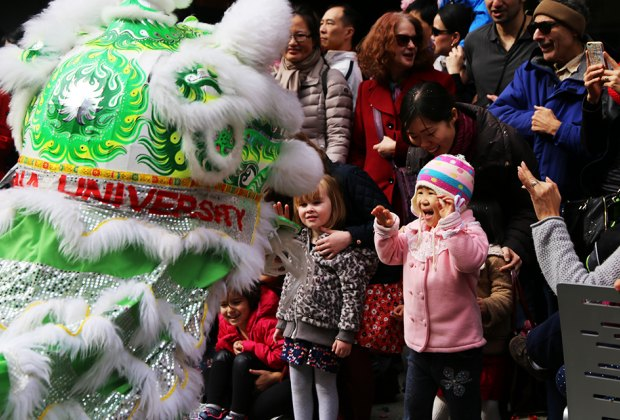 Enjoy zodiac arts & crafts, lively dance performances, festive snacks, and timeless tales inspired by Chinese and Chinese American New Year's traditions at the Museum of Chinese in America. Photo courtesy of MOCA