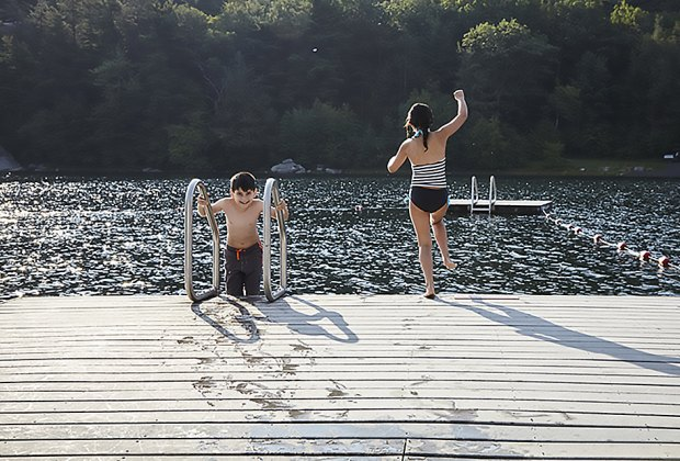 Take a dip in Lake Mohonk at Mohonk Mountain House, a  150-year-old Victorian Castle resort. Photo courtesy of the resort