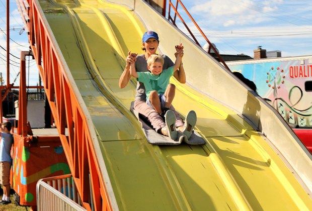 Slide into some fun at the Norwalk Oyster Festival. Photo by Richard Bonenfant