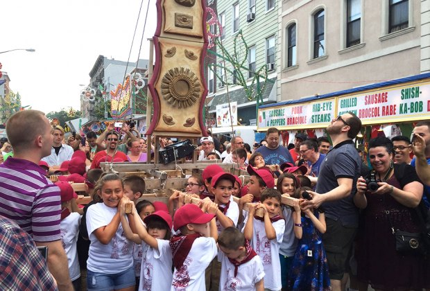 In Italian Williamsburg celebrate  the annual Giglio Feast held every July. Photo by Mommy Poppins