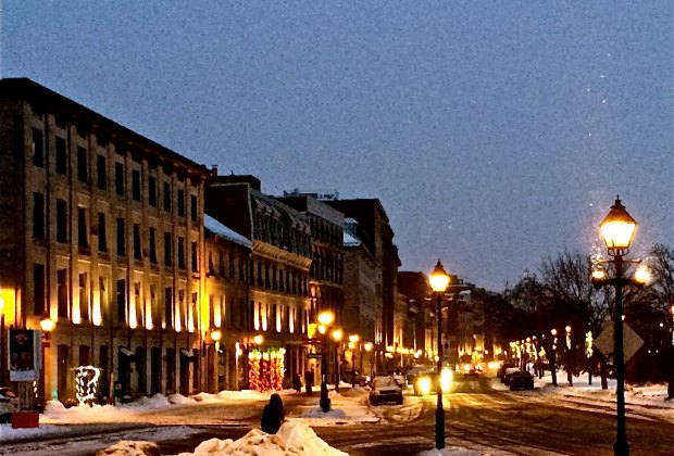 Old Montreal looks best lit up at night