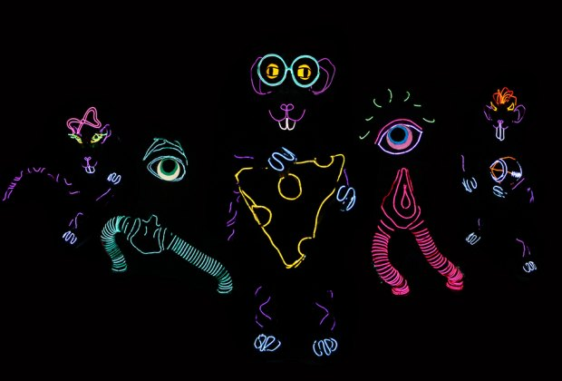 See Lightwire Theatre's glow-in-the-dark spectacle Moon Mouse at the Emelin Theatre on Saturday. Photo courtesy of the production