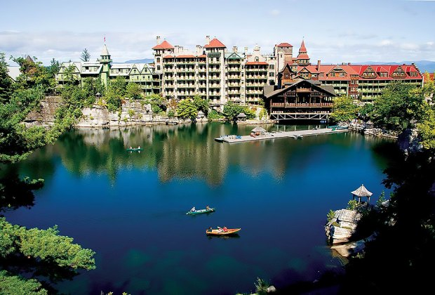 National Historic Landmark Mohonk Mountain House is a family-friendly hotel