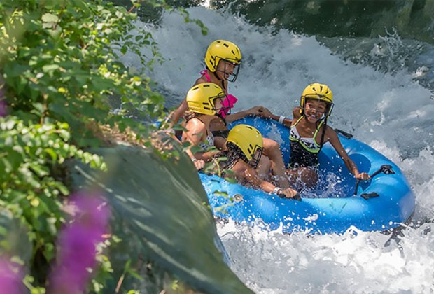 Careen down the supercharged white water raft ride, Colorado River, at Mountain Creek. Photo courtesy of Mountain Creek