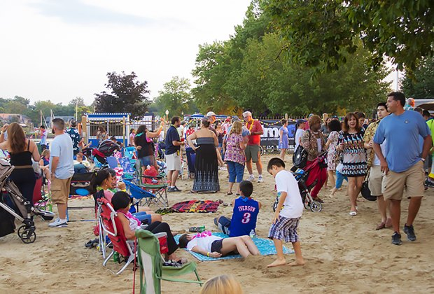 Catch an outdoor showing of Beauty and the Beast at Movies in the Sand in Mamaroneck. Photo courtesy of the event